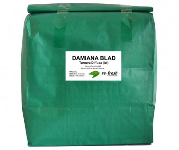 Damiana-te 100% ört, Re-fresh Superfood. 500 g