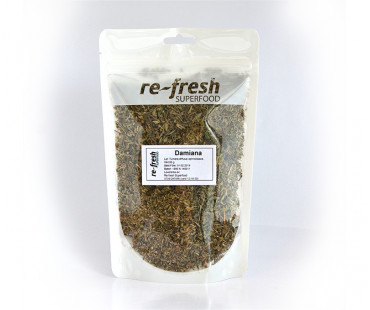 Damiana-te 100% ört, Re-fresh Superfood. 60 g