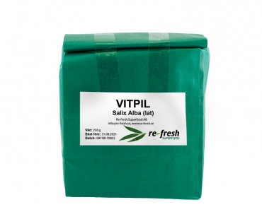 Vitpil, Re-fresh Superfood. 250 g. Örtavkok bad