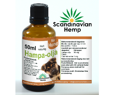 Hampaolja för Hund, Scandinavian Hemp. 50 ml