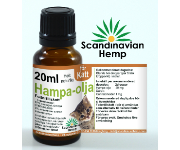 Hampaolja för Katt, Scandinavian Hemp. 20 ml