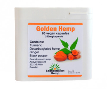 Golden Hemp, Scandinavian Hemp. 250 mg - 60 veg kap