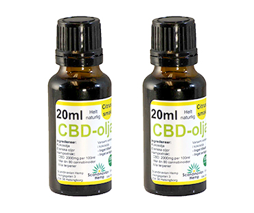 CBD olja, Scandinavian Hemp. 400 mg - 20 ml, Citrus 2-PACK