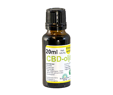 CBD olja, Scandinavian Hemp. 400 mg - 20 ml, Citrus