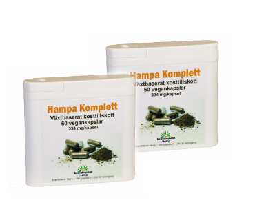 Hampa Komplett, Scandinavian Hemp. 60 kap, 2-PACK