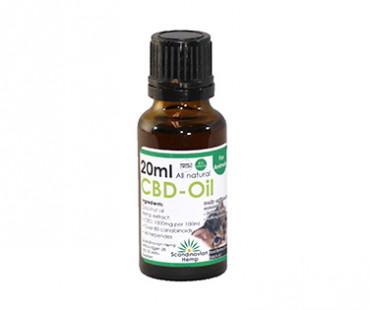 CBD olja för katt, Scandinavian Hemp. 20 ml