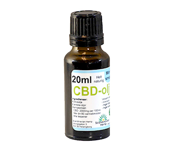CBD olja, Scandinavian Hemp. 400 mg - 20 ml, Mynta