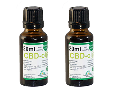 CBD olja, Scandinavian Hemp. 400 mg - 20 ml, Naturell 2-PACK