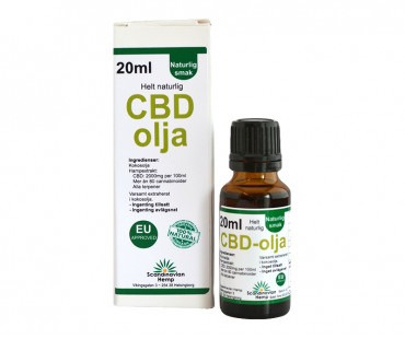 CBD olja, Scandinavian Hemp. 400 mg - 20 ml, Naturell