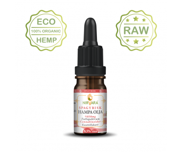Hampaolja Spagyrisk 8,5% cannabinoider, Nirvara. 10 ml