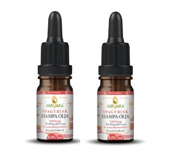 Hampaolja Spagyrisk 8,5% cannabinoider, Nirvara. 10 ml, 2-PACK