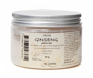 Ginsengpulver EKO, Crearome. 50 g