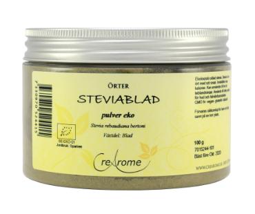 Steviablad Grönt Pulver, Crearome. 100 g