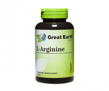 L-Arginine, Great Earth. 500 mg - 90 kaps