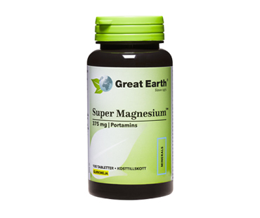 Super magnesium, Great Earth. 375 mg - 100 tab