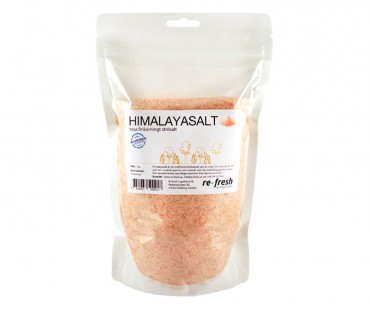 Himalaya salt - finkornigt strösalt, Re-fresh Superfood. 1 kg