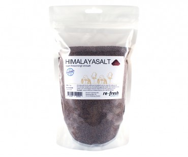 Himalaya salt - svart finkornigt strösalt, Re-fresh Superfood. 1 kg