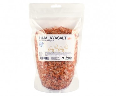Himalayasalt - granulat, Re-fresh Superfood. 1 kg