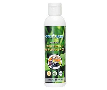 Liposomal Curcumin & resveratrol, Probioform. 180 ml