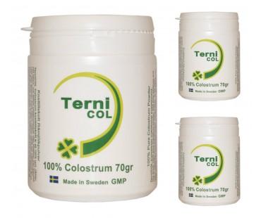 Colostrum/ råmjölkpulver, Ternicol. 70 g, 3-PACK!