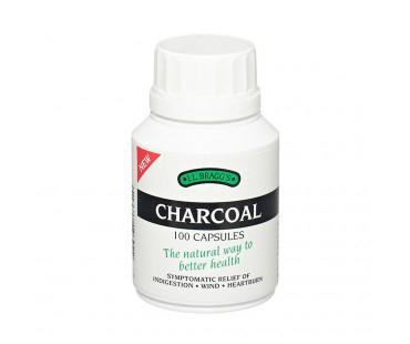 Aktivt kol, Charcoal. 300 mg - 100 kap