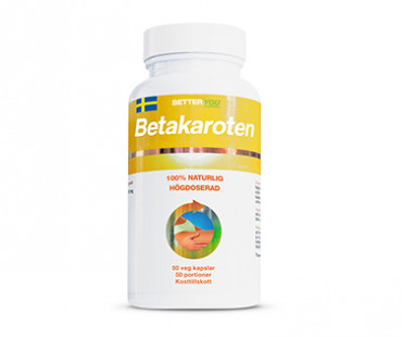 Betakaroten högdoserad, Better You. 50 mg, 50 kaps