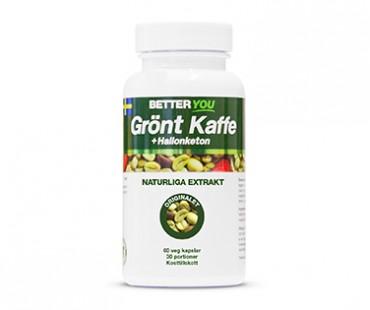 Grönt Kaffe med Hallonketon, Better You. 250 mg -  60 kap