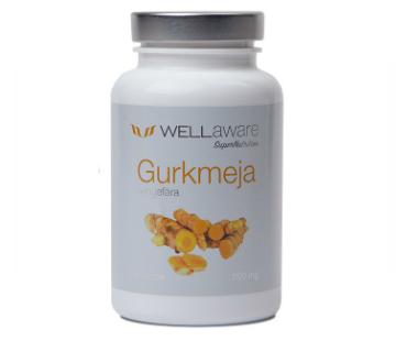 Gurkmeja + Ingefära, WellAware. 90 kap