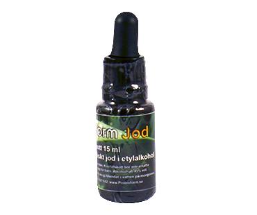 Jod 15 ml - 1% högupplöst atomiskt jod i etylalkohol