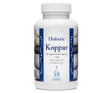 Koppar, Holistic. 2 mg - 100 kap