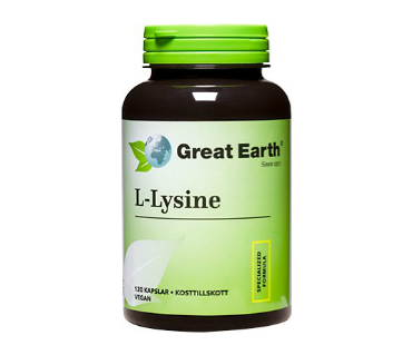 L-Lysine, Great Earth. 500 mg - 120 kaps