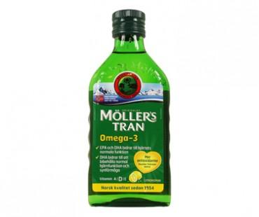 Möllers Tran - torskleverolja. 250 ml