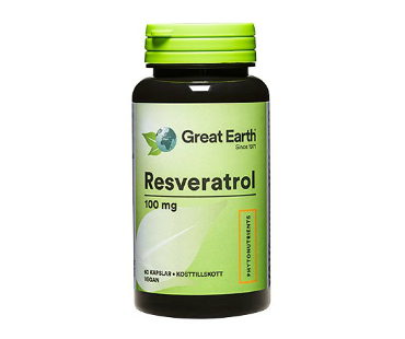 Resveratrol, Great Earth. 100 mg - 60 tab