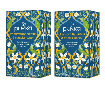 Pukka Chamomile & Manuka Te EKO. 20 påsar, 2-PACK