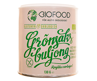 Grönsaksbuljong Jästfri EKO, Biofood. 130 g