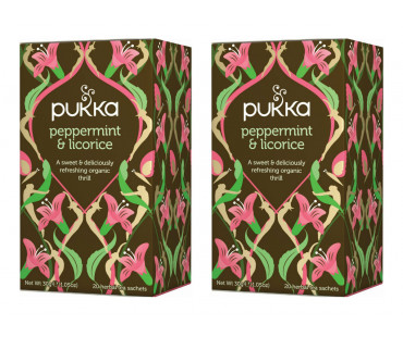 Pukka Peppermint & Licorice Te EKO. 20 påsar, 2-PACK