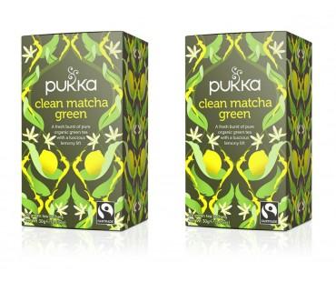 Pukka Clean Matcha Green Te EKO. 20 påsar, 2-PACK