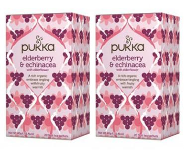Pukka Elderberry & Echinacea Te EKO. 20 påsar, 2-PACK