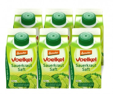 Surkålsjuice, Voelkel. 500 ml, 6-PACK