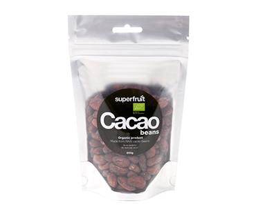 Raw Cacao Beans/Kakaobönor EKO, Superfruit. 200 g