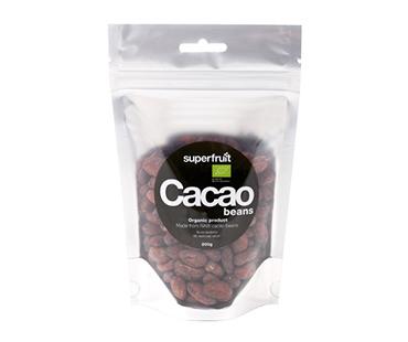 Raw Cacao Beans/Kakaobönor EKO, Superfruit. 200 g