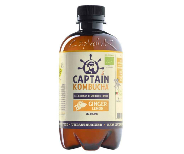 Captain Kombucha, Ginger & Lemon EKO. 400 ml