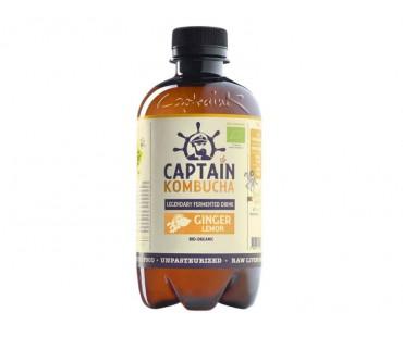 Captain Kombucha, Ginger & Lemon EKO. 400 ml