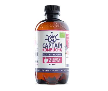 Captain Kombucha, California Raspberry EKO. 400 ml