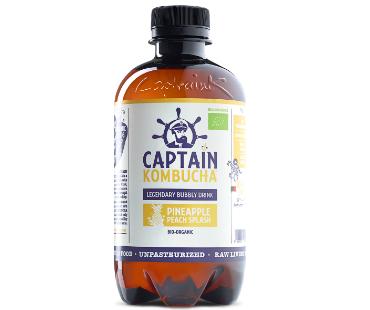 Captain Kombucha, Pineapple Peach Splash EKO. 400 ml