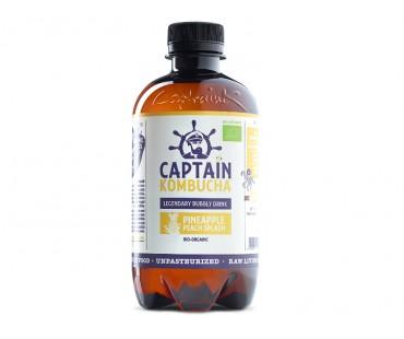 Captain Kombucha, Pineapple Peach Splash EKO. 400 ml