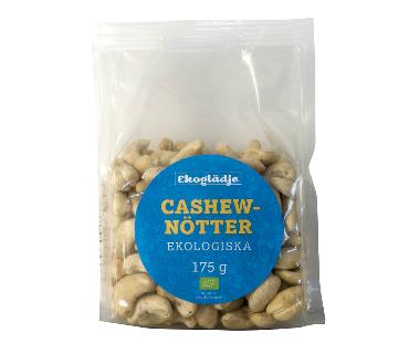 Cashewnötter EKO, Ekoglädje. 175g