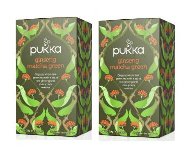 Pukka Ginseng Matcha Green Te EKO. 20 påsar, 2-PACK