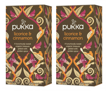 Pukka Licorice & Cinnamon Te EKO. 20 påsar, 2-PACK