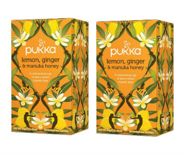 Pukka Lemon, Ginger & Manuka Honey Te EKO. 20 påsar, 2-PACK
